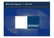 RKW Jahrestagung – 1. Juli 2010 Ausbildung