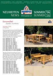NEUHEITEN NEWS SOMMER '06 SUMMER ' - Gaspo