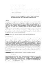 Slaughter value and meat quality of Muscovy ducks, Pekin ducks ...