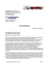 Tretmuehle - Die taegliche Dosis Sport - PR-Büro-Dresden