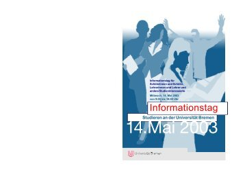 Informationstag - Mathematik - Universität Bremen