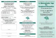 Programm (Flyer) - Hämatologie und Onkologie Rostock