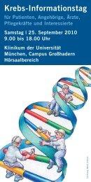 programm krebs-informationstag 2010 - Lebensmut