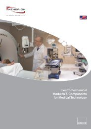 Electromechanical Modules & Components for Medical ... - Kendrion