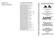 ASPO Programm Einladung 20 09 2006 - des Klinikums
