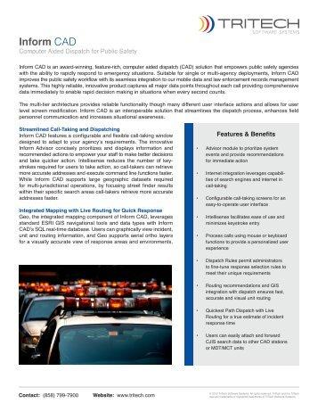 Inform CAD - TriTech Software Systems