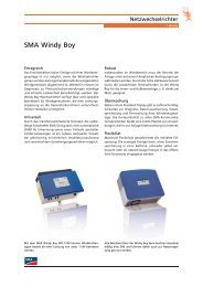 SMA Windy Boy - Tritec
