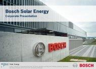 Bosch Solar Energy - Tritec