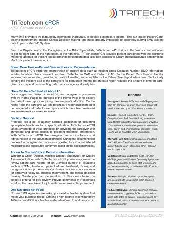 TriTech.com ePCR - TriTech Software Systems