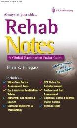 REHAB Notes - samlaurel