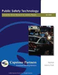 Public Safety Technology Report - Capstone Partners