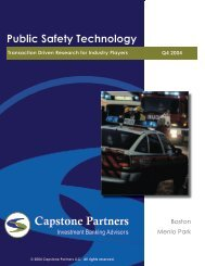 Public Safety Technology Report - Capstone Partners
