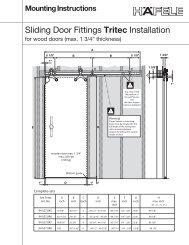 Installation instructions Sliding door fittings Tritec