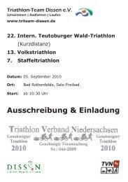 Ausschreibung & Einladung - Triathlon-Team Dissen eV