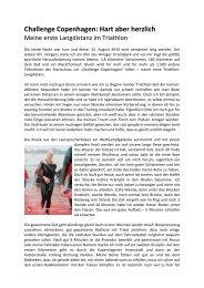 Challenge Copenhagen: Hart aber herzlich - Triathlon-Team Dissen ...