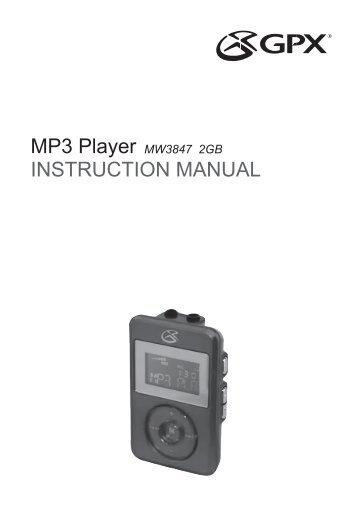 mp3 player instruction manual gpx rh yumpu com GPX 4GB MP3 Player GPX MP3 Player Instructions