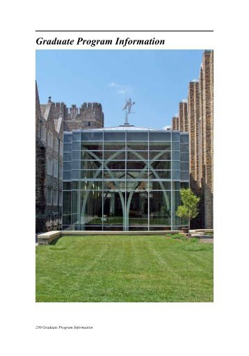 Graduate Program Information - Office of the Registrar - Duke ...
