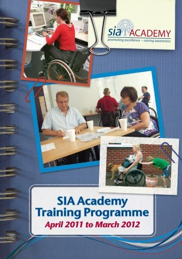 SIA Academy Training Programme - Spinal Injuries Association