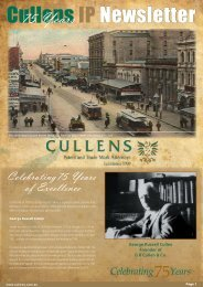 Newsletter 5 - Cullens Patent and Trade Mark Attorneys