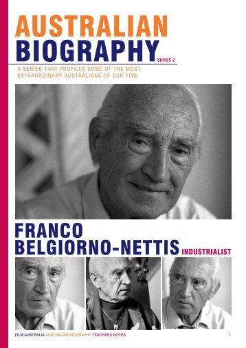 FRANCO BELGIORNO-NETTIS
