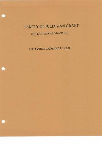FAMILY OF IULIA ANN GRANT