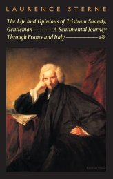 The Life and Opinions of Tristram Shandy & A Sentimental Journey