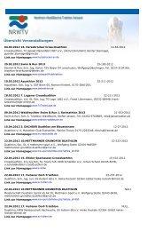 Veranstalltungen 2012 - (NRWTV) www