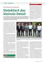 Detektiert das kleinste Detail - Multi-Components GmbH