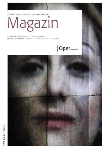 Opernmagazin September / Oktober 2011 - Oper Frankfurt