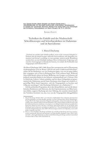 Techniken des Einfalls und der Niederschrift Schreibkonzepte und ...