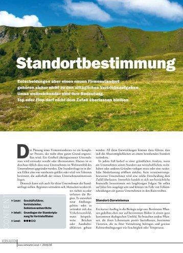 """""""Standortbestimmung"""" in der Zeitschrift """"Verkaufen"""" - GeoMarketing"""