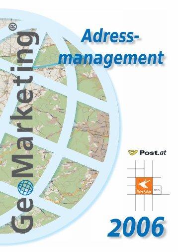 Post Adress Basis Datenbank - GeoMarketing