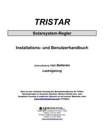 TRISTAR Solarsystem-Regler Installations