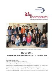 Rundbrief 1 Herbst 2011plus - Gymnasium Thomaeum Kempen