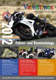 VALENTINOS Katalog 2012 - Fahrer- und Renntrainings