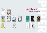 Piper Taschenbuch Sachbuch Sommer 2013 April-Oktober