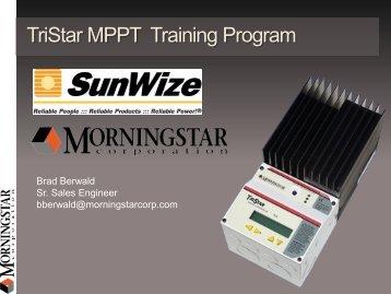 TriStar MPPT Training Program - SunWize Technologies, Inc.