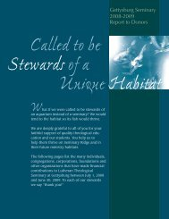 Called to be Stewards of a Unique Habitat What - Lutheran ...