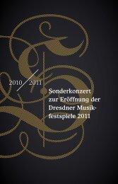 festspiele 2011 - Staatskapelle Dresden
