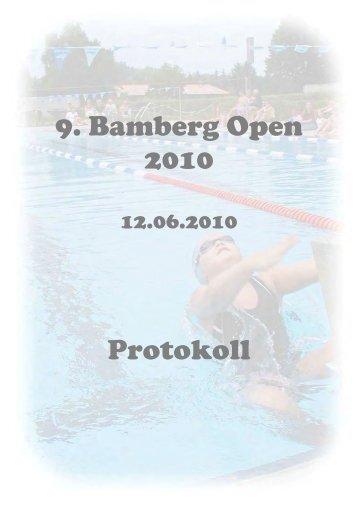 9. Bamberg Open 2010 Protokoll - BSV - Bezirk Oberfranken