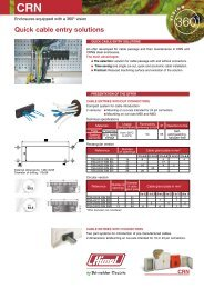 Quick cable entry solutions