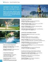 Sport und SpaSS rund um den See - Selection