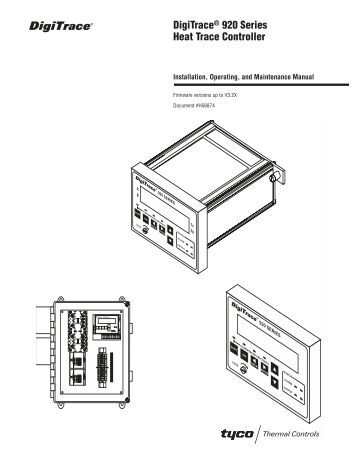 DigiTrace® 920 Series Heat Trace Controller Operator Console