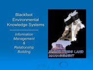 Blackfoot Environmental Knowledge Systems - First Nations (Alberta ...