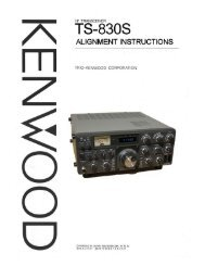 Kenwood TS-830S Alignment Instructions