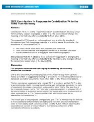 IEEE Contribution in Response to Contribution 74 to the TSAG from ...