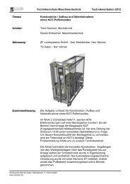 Konstruktion, Aufbau und Inbetriebnahme eines ... - TS-Aalen