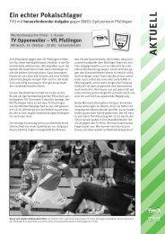 VfL Pfullingen - TV Oppenweiler