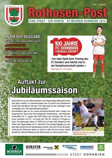 Rothosen Post Ausgabe 1 zum Spiel gegen TSV - FC Mohren ...