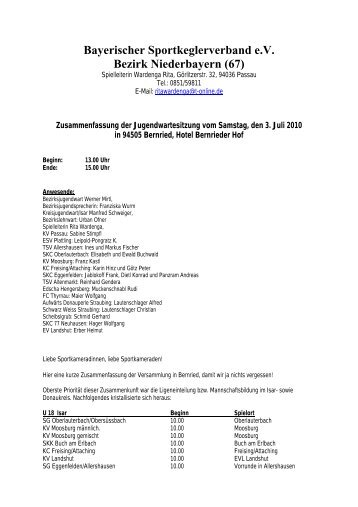 Bayerischer Sportkeglerverband e.V. Bezirk Niederbayern (67)